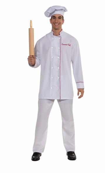 Gourmet Chef Adult Coat White Uniform Hat Toque Standard Costume Jacket Master