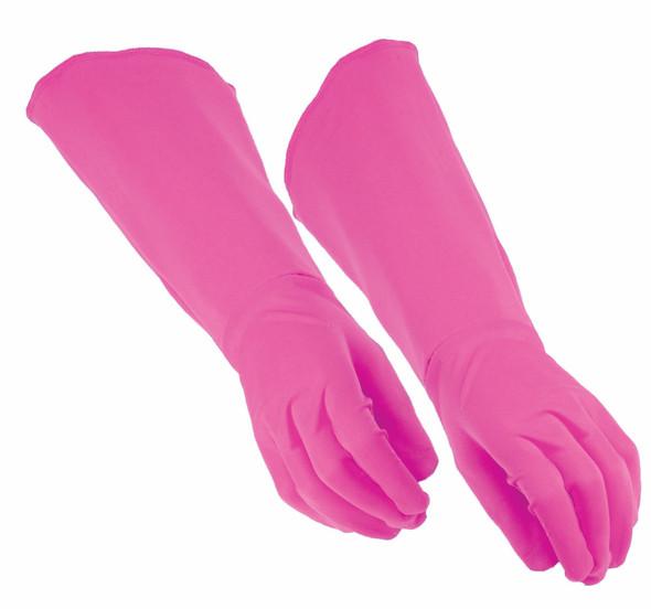 Adult Super Hero Pink Gauntlets Long Gloves Men Women Cosplay Costume Accessory