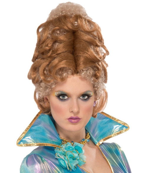Auburn Blonde Courtesan Woman Wig Halloween Costume Accessory Victorian Beehive
