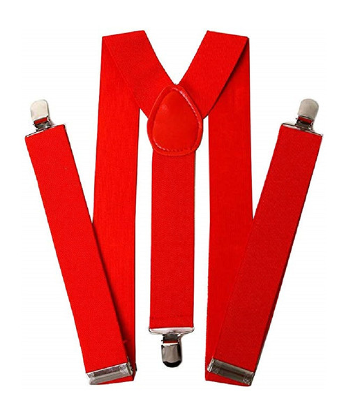 Men's Solid Red Adult Suspenders Valentine's Day Christmas Costume Accessory