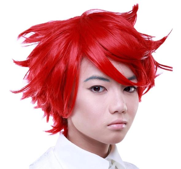 Rockstar Boy Cut Short True Red Naruto Akasuna No Sasori Anime Quality Heat Safe