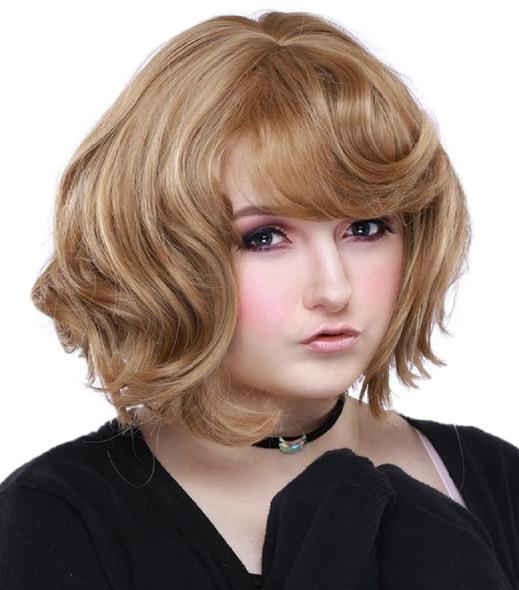 Rockstar Quality Gamine Short Costume Wig Women Light Brown Milk Tea Stylable