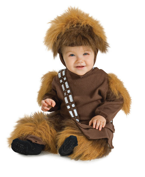 Chewbacca Star Wars Toddler Costume Hooded Brown Fleecy Fun Fur Size 24 Months