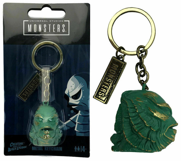 Universal Studios Monsters Metal Keychain The Creature of The Black Lagoon