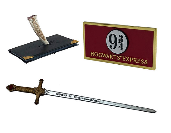 Harry Potter Diecast Metal Miniature Collectables Diary Platform Sign Sword