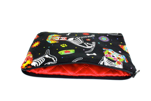 Hemet Day Of The Dead Doggies Pouch Wallet Make-up Bag Coin Purse Dachshund Dog