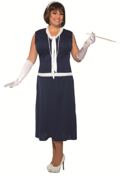 Roaring 20s Day Dreaming Daisy Flapper Costume Dress Gatsby Womens XS-Plus Size