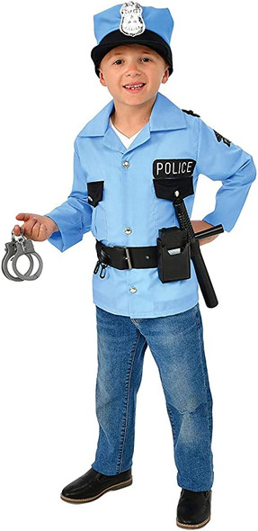 Police Officer Costume Role Play Set Cop Law Enforcement Child Boys Girls 8-10