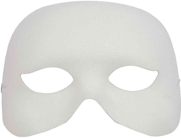 White Cocktail Half Fancy Mask Venetian Masquerade Adult Costume Accessory