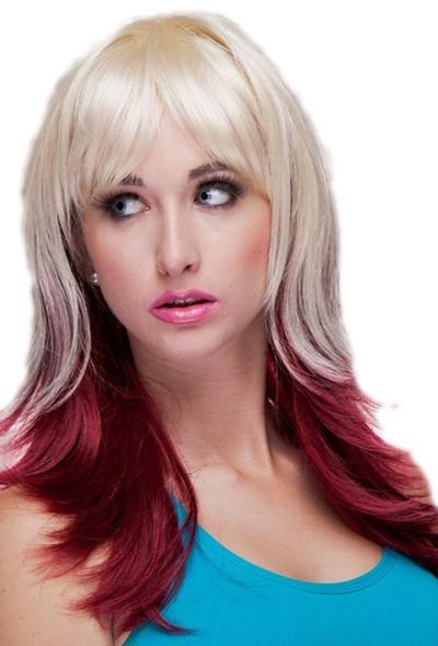 High Quality Blush Hannah Vanilla Maroon Blonde Two-Tone Anime Fantasy Style Wig