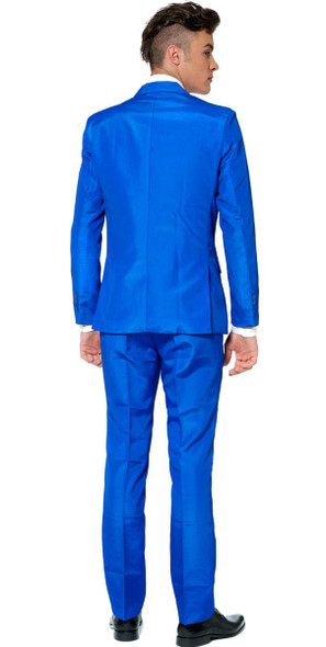 Suitmeister Solid Blue Business Suit & Tie Adult Costume Jacket Pants Prom SM-XL