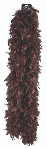 6ft. Brown Turkey Feather Boa Saloon Girls Steampunk Costume Accessory 72""