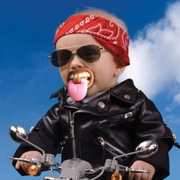 Billy Bob Baby with Attitude Pacifier TeethTongue Orthodontic Nipple Safe Novelty