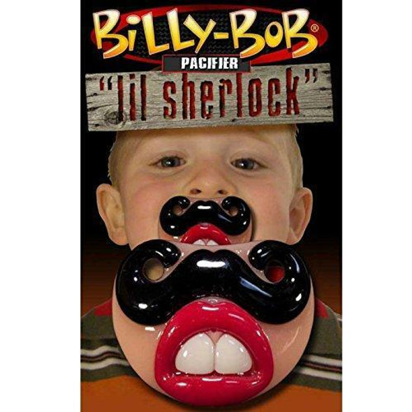 Billy Bob Baby Little Sherlock Pacifier Teeth Orthodontic Nipple Safe Novelty