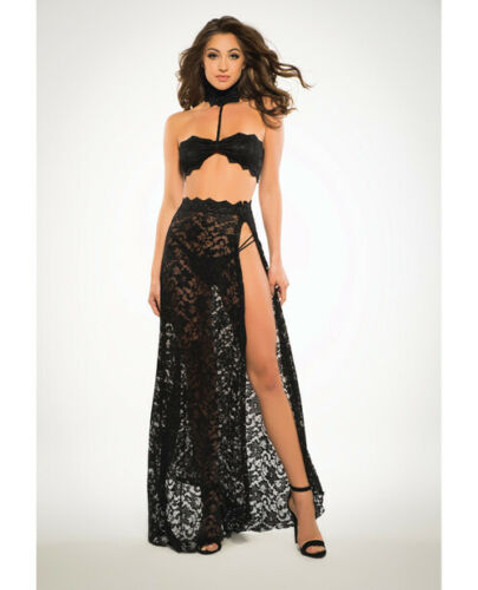 Allure Freya See Through Me Bandeau Top Skirt G-String Lingerie Women Size SM