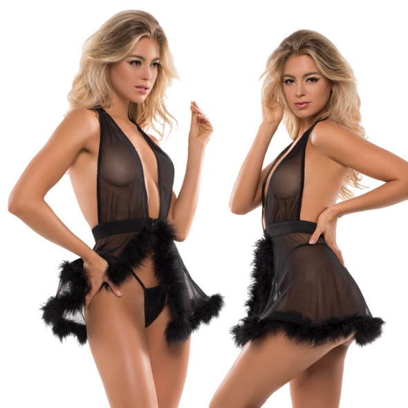 Allure Adore Skye Candy Sweet Baby Doll & G-String Lingerie Size Large -X-Large