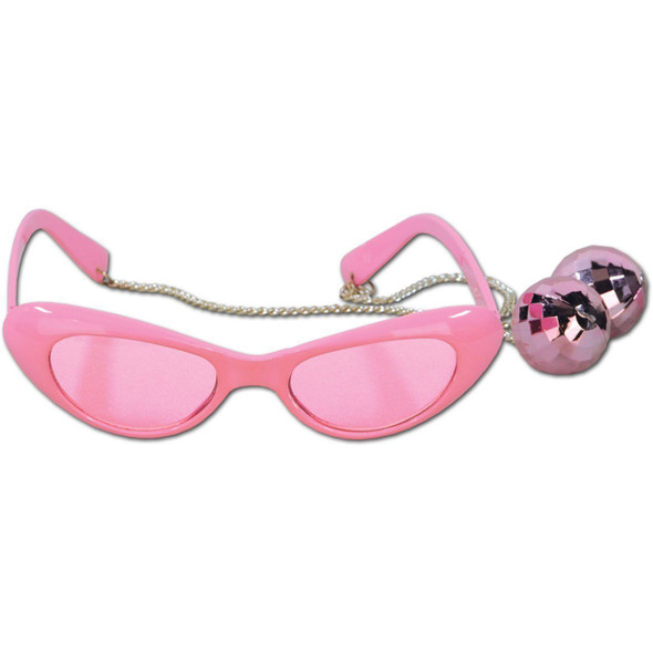 Pink Disco Balls Fanci-Frames 1970s 70s Adult Disco Party Accessory 1 Pair