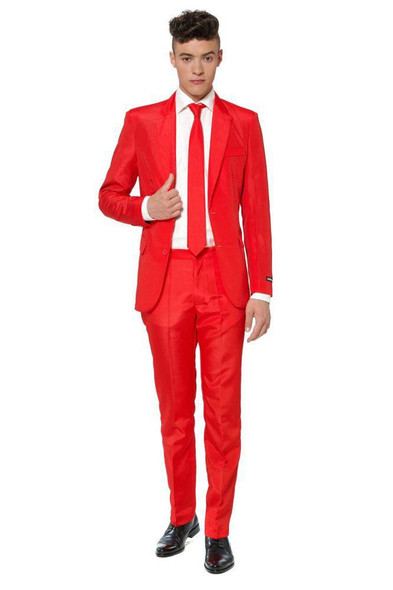 Suitmeister Red Suit Tie Adult Jacket Pants St. Valentine Day Christmas SM-XL