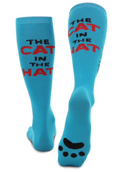Dr. Seuss Cat in the Hat Paws Knee High Costume Socks
