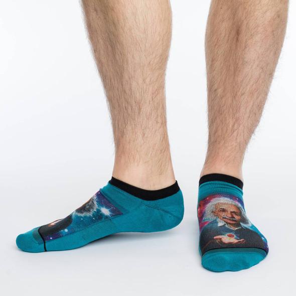 Good Luck Sock Licensed Albert Einstein Ankle Socks Adult Shoe Size 7-12