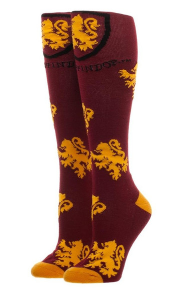 Harry Potter Gryffindor Knee High Socks Adult Children Crest Sock Sz 9-11