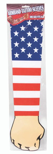 American Flag Tattoo Arm Sleeve 4th of July Costume Accessory USA Patriotic Mens