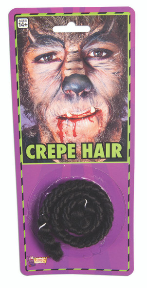 Black Crepe Facial Hair Animal Adult Halloween Make Up Costume Accessory Prop