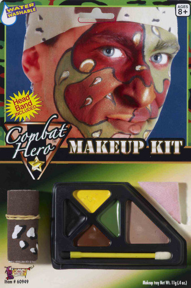 Army Camo Soldier Makeup Kit Headband Included Halloween Costume Accessory