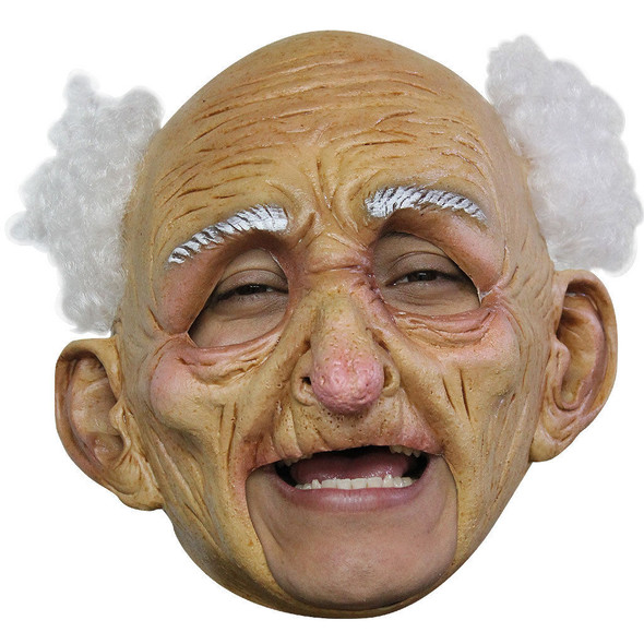Old Man Mask Old Geezer Latex Grandpa Halloween Costume Accessory Over the Hill