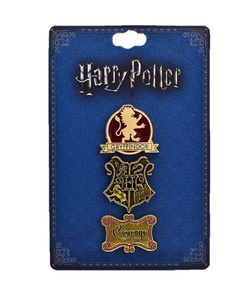 Licensed Harry Potter Gryffindor House 3pk Lapel Pins Set Fashion Accessory