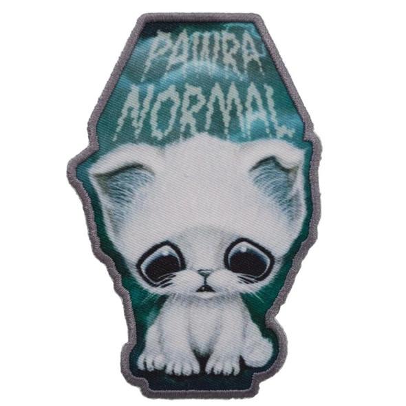 Kreepsville Sugarfueled Ghost Cat Patch Kitten Embroidered Iron On Applique