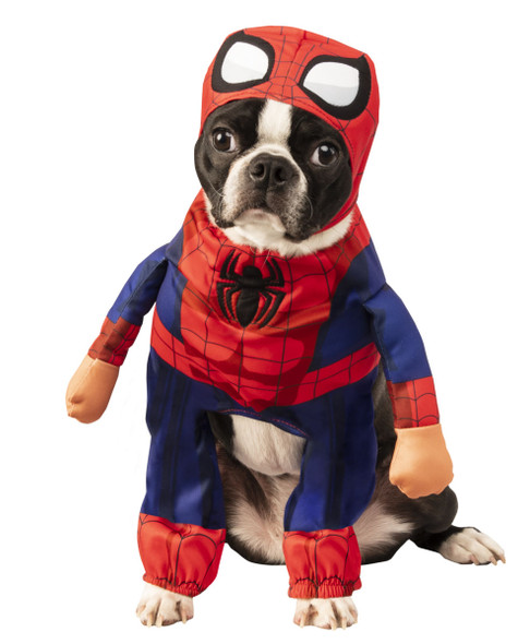 Walking Marvel Comics Spider-Man Pet Dog Costume Hero Clothes Dress Up SM-XXL