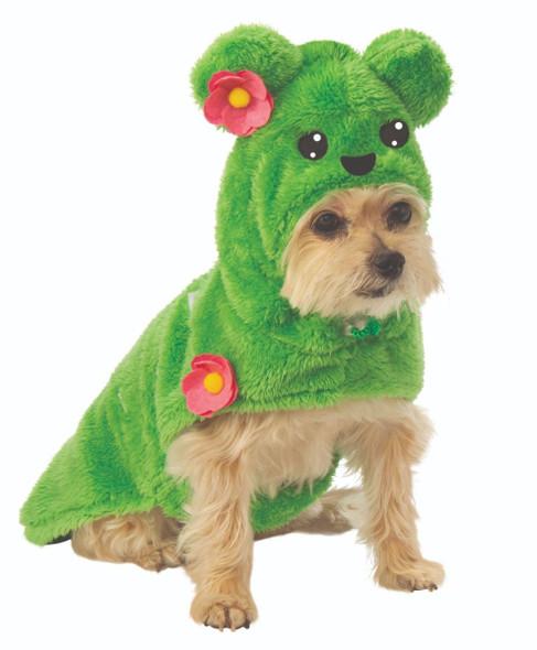 Green Cactus Hoodie Fluffy Pet Dog Animal Halloween Dress-Up Costume SM-XL
