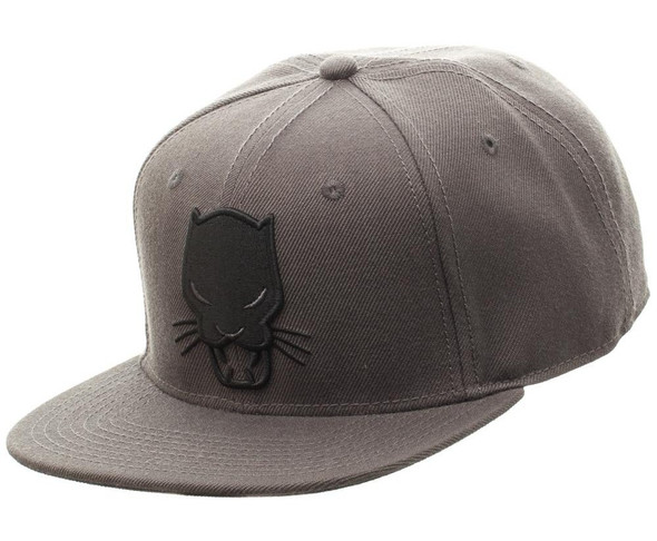 Marvel Comics Black Panther Grey Snapback Baseball Hat Adjustable Cap Adult