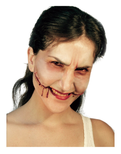 Big Bloody Smile Latex Appliance Adult Halloween Gash Wound Prosthetic Make-up