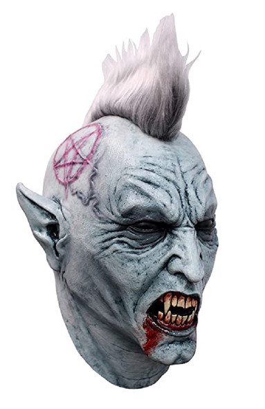 Ghoulish Bloody Punky Adult Latex Mask Vampire Halloween Punk Rocker Scary Fangs