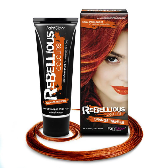 Paint Glow Rebellious Orange Thunder Semi-Permanent Hair Dye Bright Fantasy
