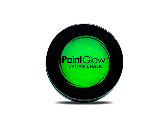 Paint Glow Neon Green Hair Chalk UV Reactive with Sponge Festival Streaks