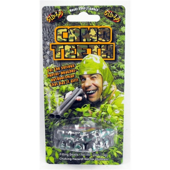 Billy-Bob Camo Funny Gag Hunters Teeth Custom Fit Costume Accessory
