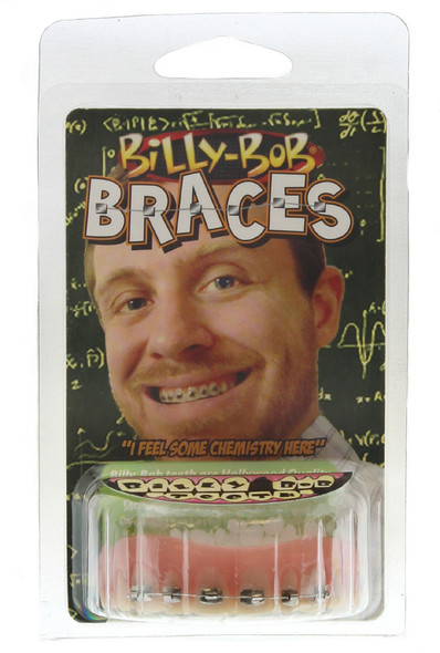 Billy-Bob Fool All Braces Funny Nerd Metal Mouth Brace Face Teeth Custom Fit