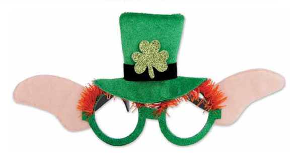 Funny Leprechaun Glasses St. Pat's Patrick's Day Eye Mask Costume Accessory