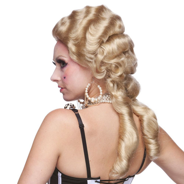 High Quality Blonde Renaissance Women's Wig Colonial Ringlet Curls Adult Costume