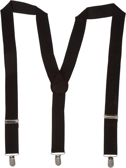 Solid Black Suspender Adult Men's Women's Costume Accessory Prom Groom