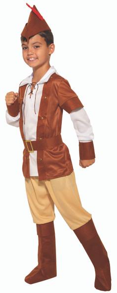 Sherwood Huntsman Archer Woodsman Child Costume Robin Hood Forest Medieval SM-LG