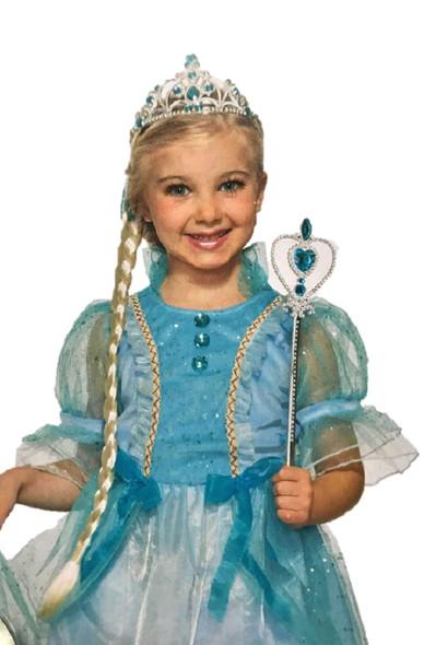 Ice Snow Princess Kit Crown Headband Wand Braided Hair Girls Costume Accessory