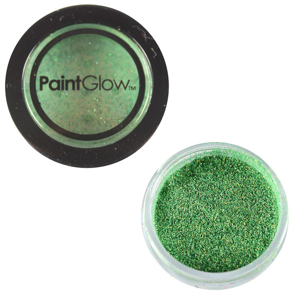 Paint Glow Holographic Green Glitter Shaker Halloween Makeup Festival Party