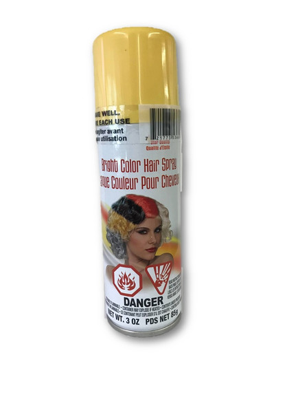 Bright Color Hair Spray Blonde Temporary Hair Color Costume Accessory Make-Up