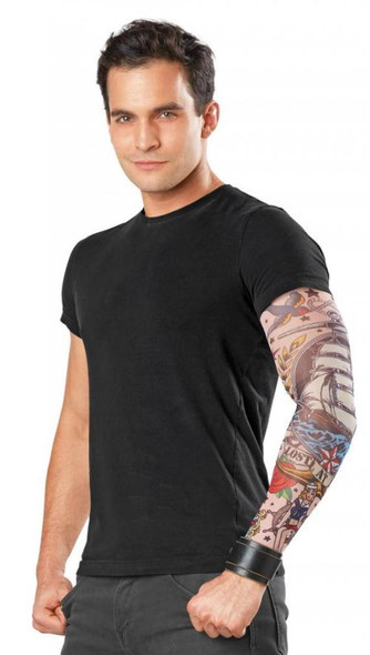 Sailboat Tattooed Ink-Spirations Tattoo Sleeve Looks Real! Pirate Mens LARGE
