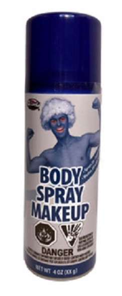 Blue Body Paint Makeup Spray Costume Accessory Make-Up 4oz