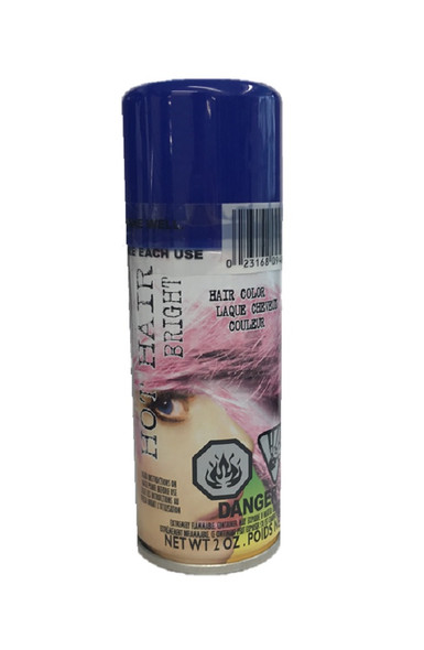 Hot Hair Bright Blue Spray Temporary Hair Color Costume Accessory Make-Up